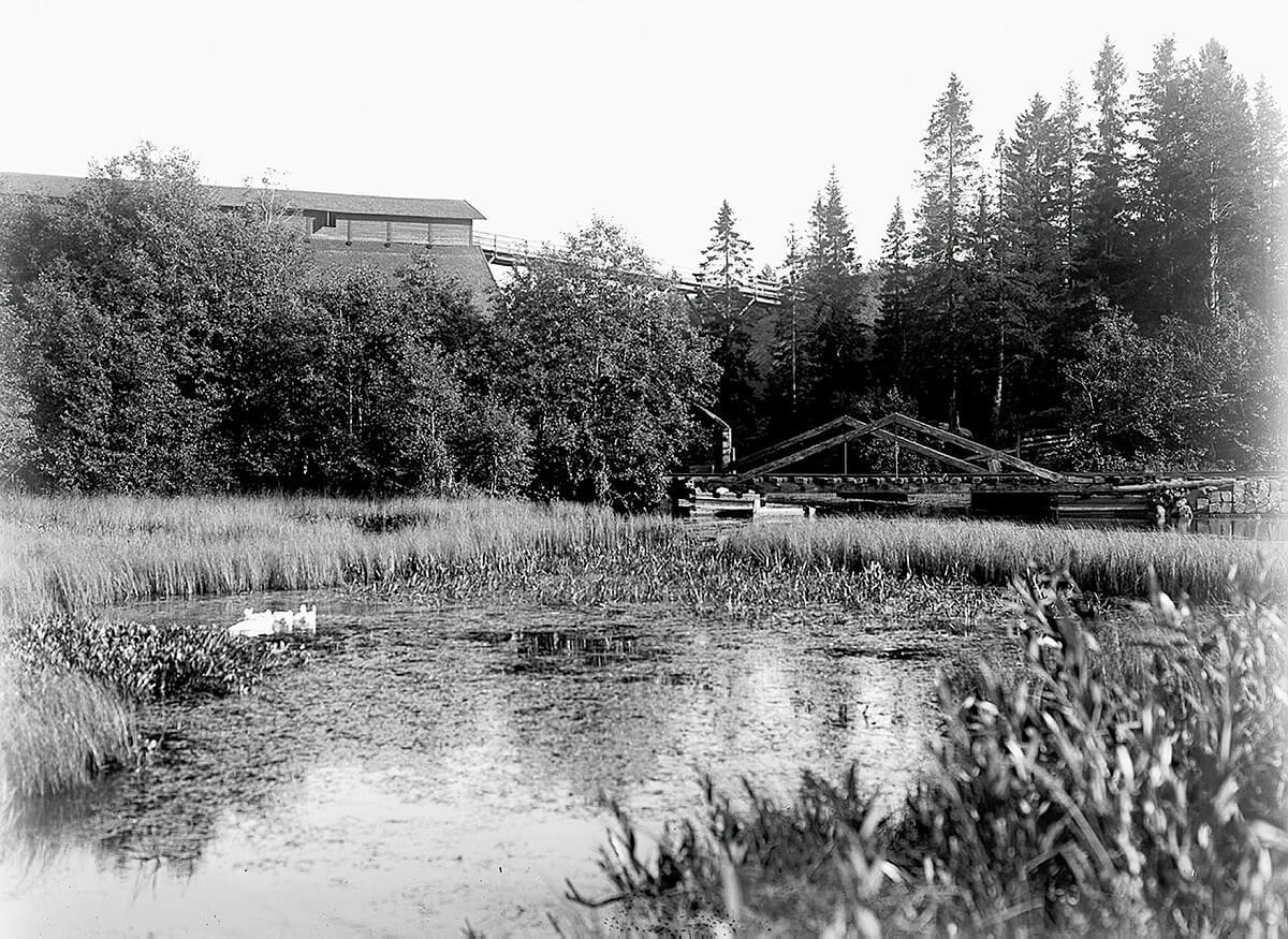Dammen med kolmagasin 1901