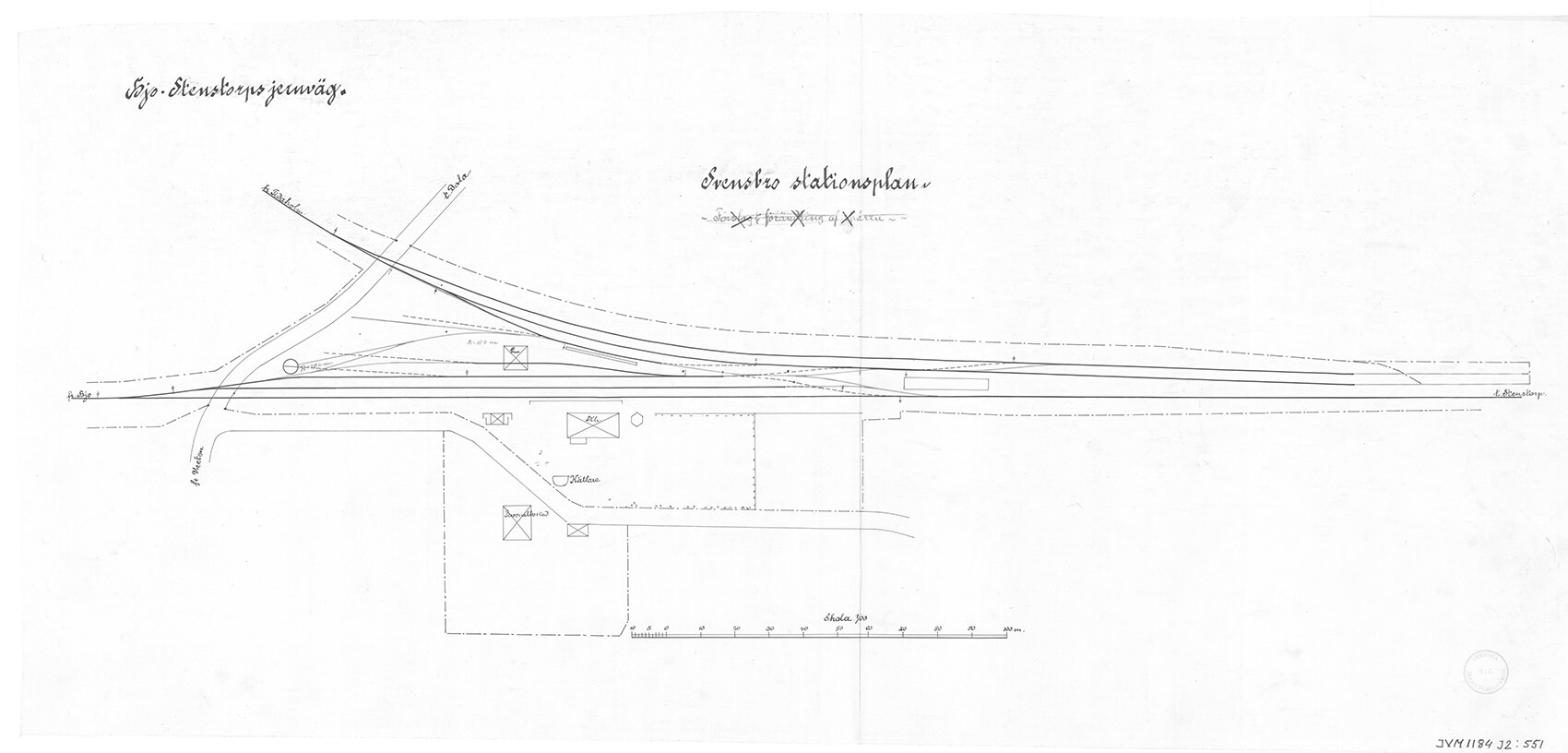 Ritning Svensbro Stationsplan